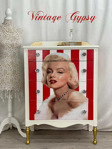 Vintage Marilyn Monroe Dresser