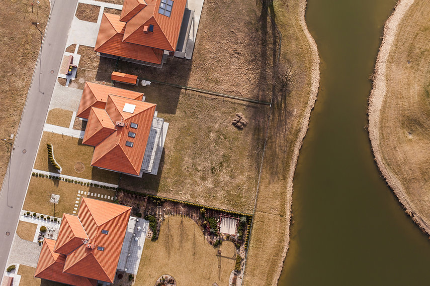 Aeriel View of Housing Unit