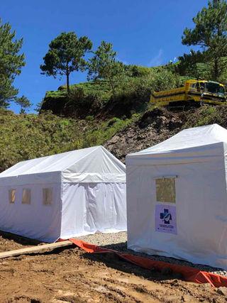 Tent at DPWH Benguet