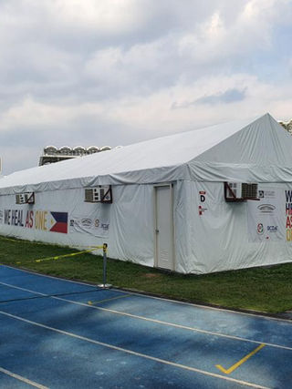 Tent at Philippine Arena