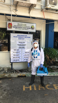 Bio Fogging and Misting at Philippine National Police