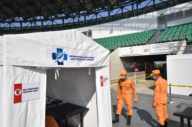 ISPS builds 'mega swabbing centers' at the Philippine Arena