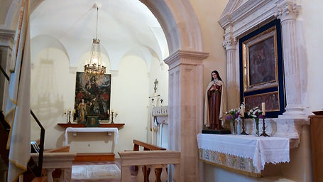Interior detail church of St. Mary Šipan