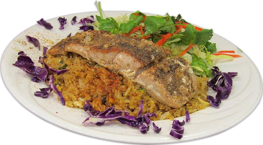 blackened salmon on cajun fried rice.jpg