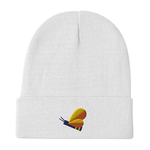 Bee Embroidered Beanie