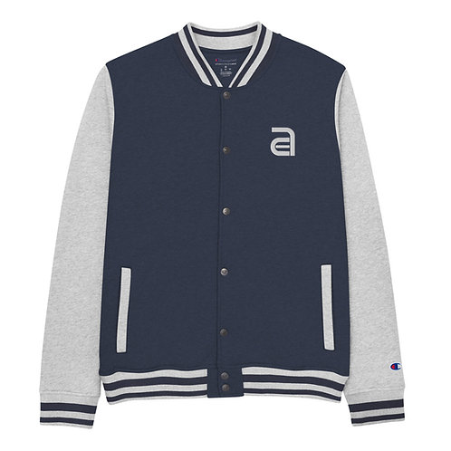 Ace Icon Captain's Embroidered Champion Bomber Jacket