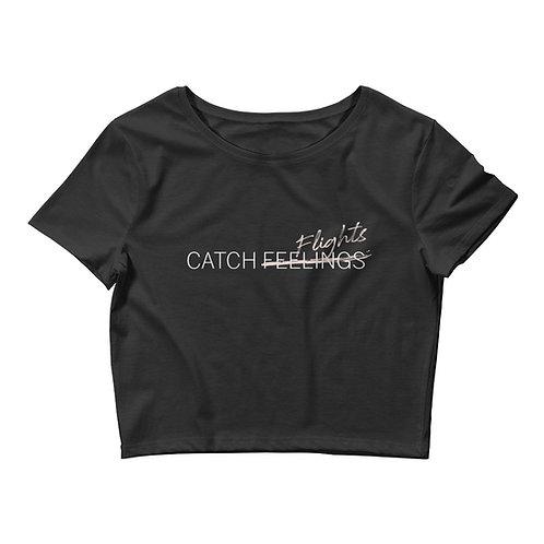 Catch Flights Women's Crop Tee