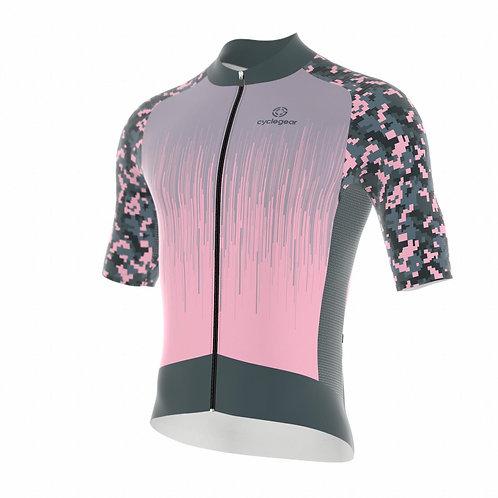 Wielershirt Camo Pink - Maat L
