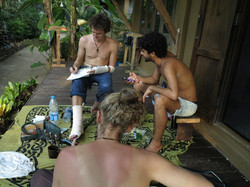 Composing at home in Koh Chang