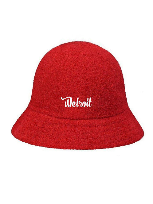 Red Casual Bucket Hat