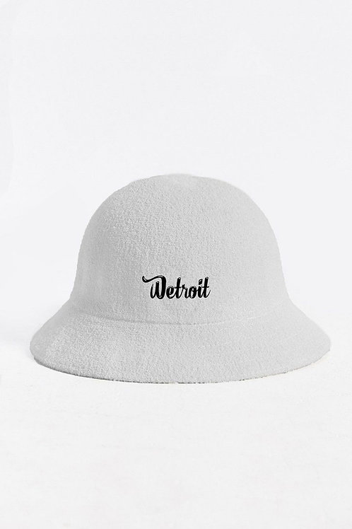 White Casual Bucket Hat