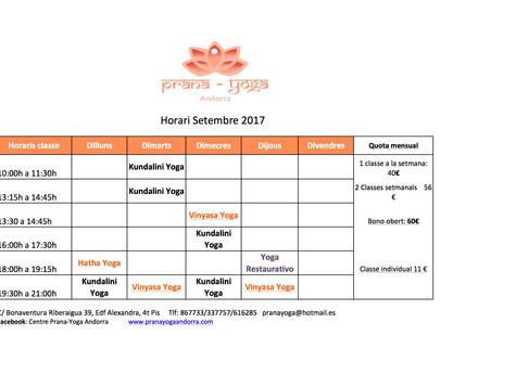 Yoga en Septiembre