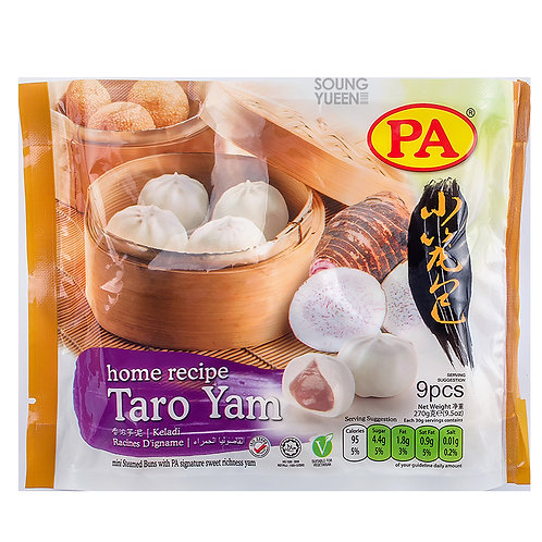 PA MINI STEAMED BUN TARO YAM 9PCS/30G