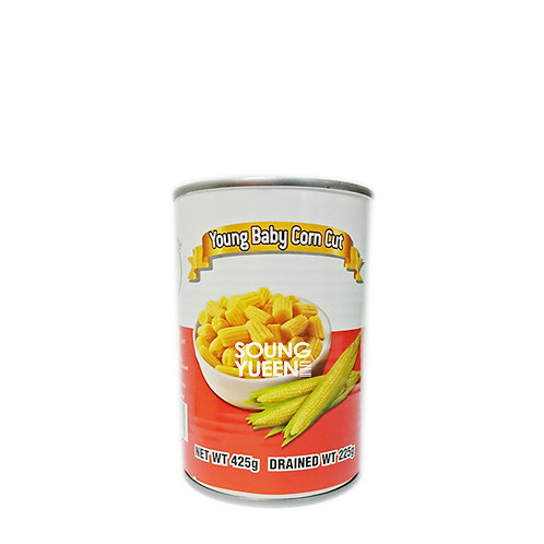 TIGER KING YOUNG BABY CORN CUT 425G