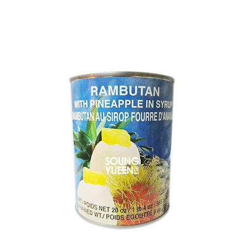 COCK RAMBUTAN WITH PINEAPPLE IN SYRUP 565G