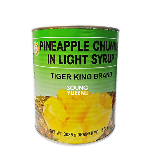 TIGER KING PINEAPPLE CHUNCK IN SYRUP 3035G