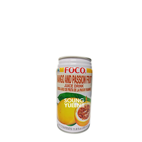 FOCO MANGO AND PASSION FRUIT NECTAR DRINK 350ML