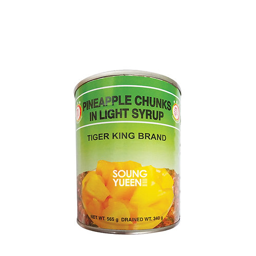TIGER KING PINEAPPLE CHUNKS 565G