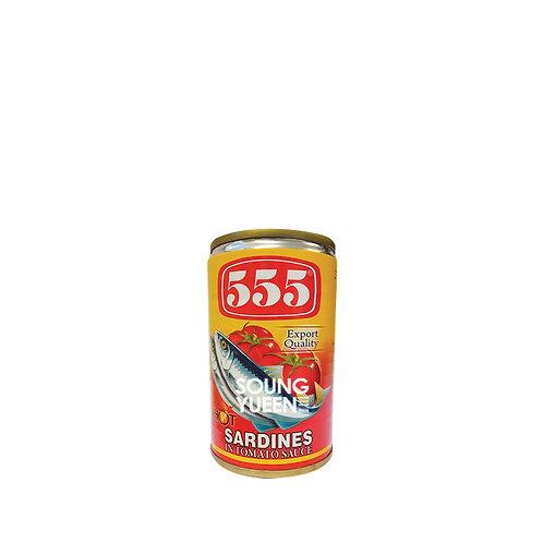555 SARDINES TOMATO SAUCE WITH CHILLI 155G