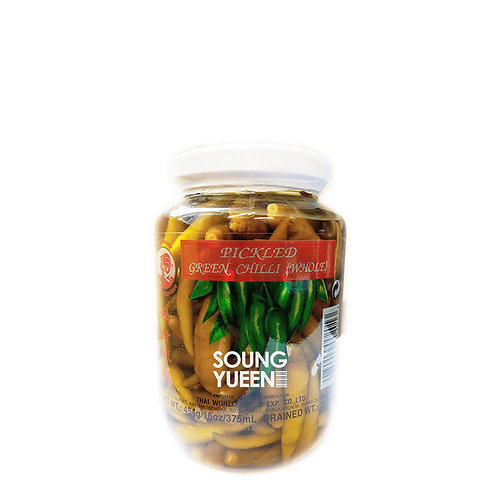 COCK PICKLED GREEN CHILLI WHOLE 454G