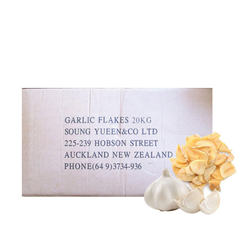 DRIED GARLIC FLAKE WITHOUT ROOT GRADE A 20KG