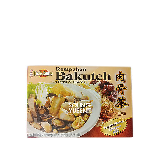 UNCLE JAMES BAKUTEH WITH SOY SAUCE 90G