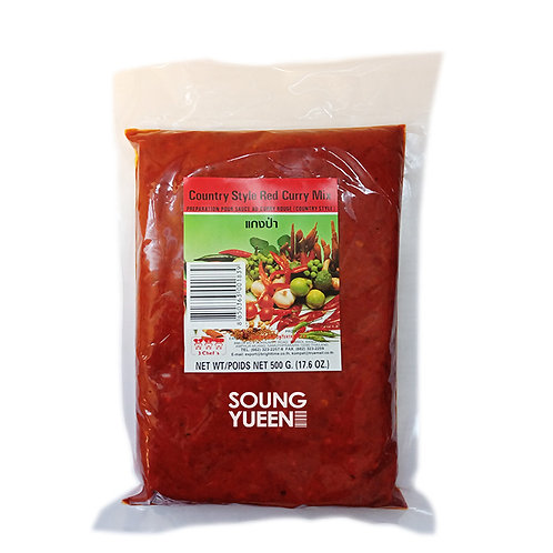 3 CHEF'S COUNTRY STYLE RED CURRY MIX PASTE 500G