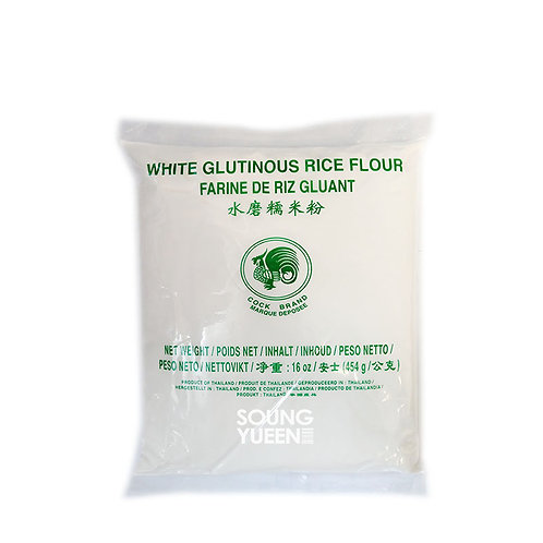 COCK WHITE GLUTINOUS RICE FLOUR 454G