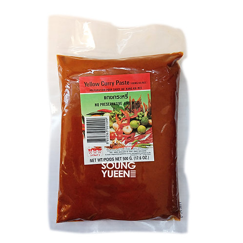 3 CHEF'S YELLOW CURRY PASTE 500G
