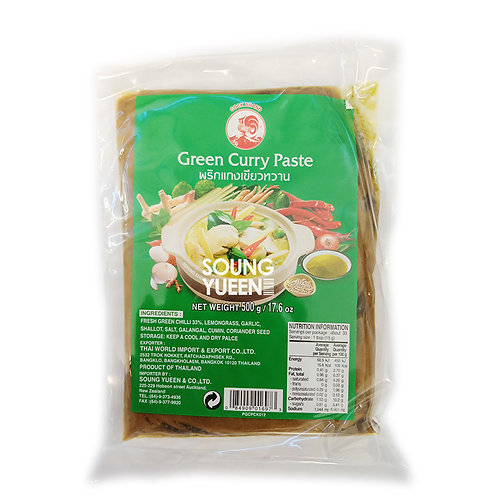 COCK GREEN CURRY PASTE 500G