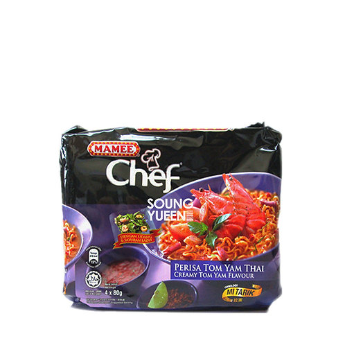 MAMEE CHEF CREAMY TOM YAM FLAVOUR INSTANT NOODLES 4'S