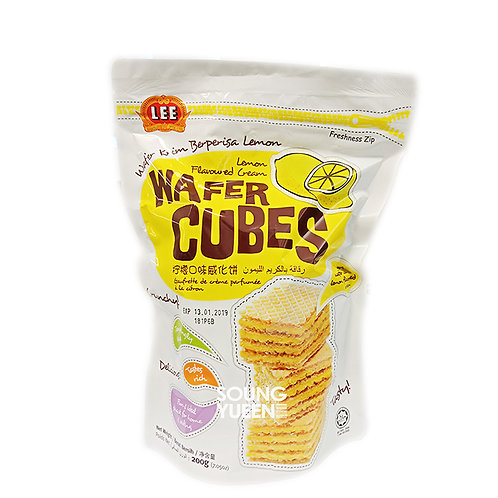 LEE LEMON FLAVOURED CREAM WAFER CUBES 200G