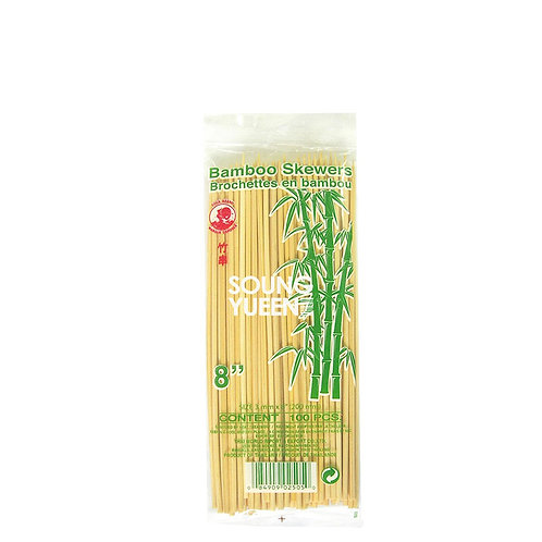COCK BAMBOO SKEWER 8 INCH (20CM) 100'S