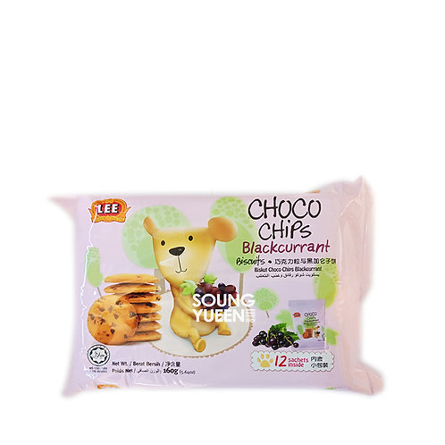 LEE CHOCO CHIPS BLACKCURRANT BISCUITS 160G