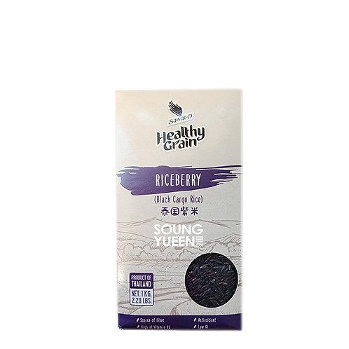 SAWAT-D HEALTHY GRAIN BLACK CARGO RICE 1KG