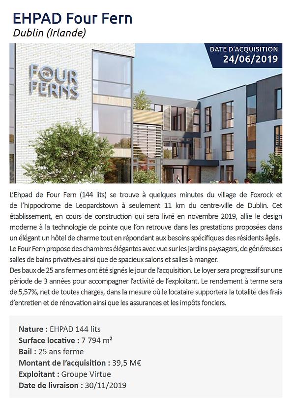 Exemple d'investissment 2 Pierval Santé.