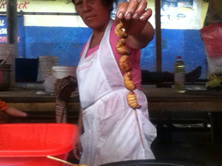 Iquitos Grubs, Belen Market