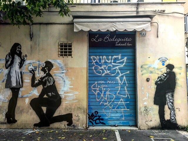 Via Pigneto, painted over
