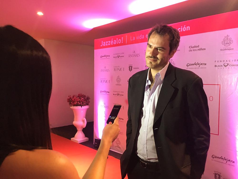 Festival Founder Gil Cervantes on the red carpet