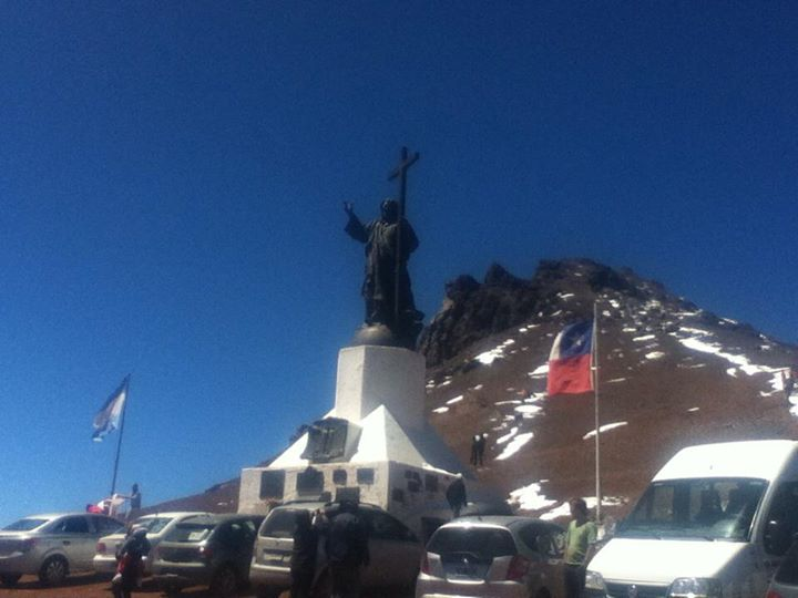 Chile-Argentina border, 3832 meters