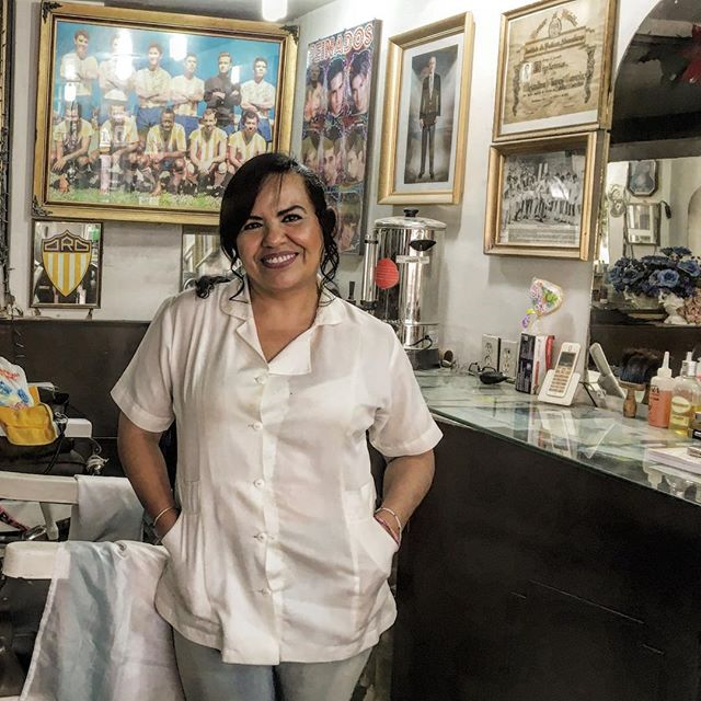 Tania, barber to the stars