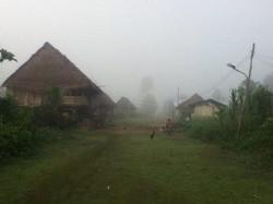 Indigenous pueblo in the morning