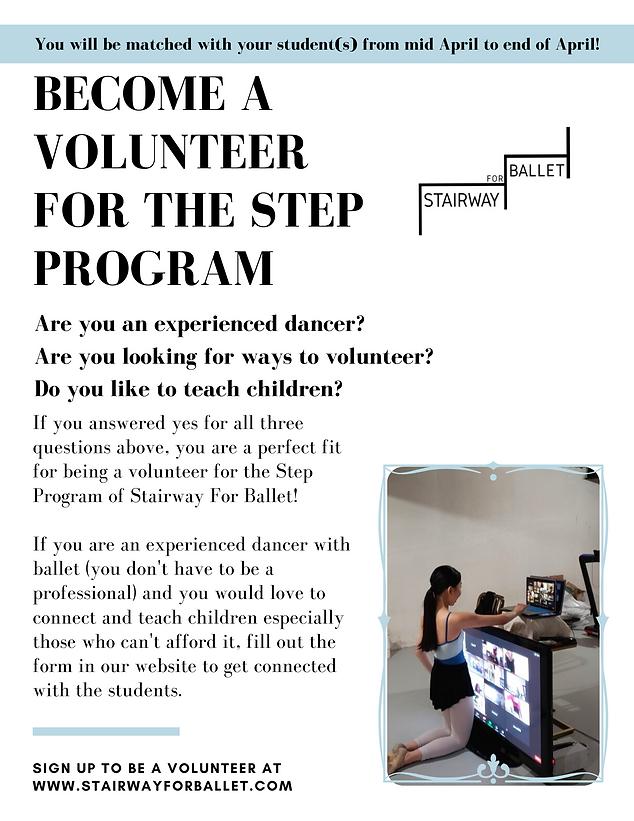 Stairway For Ballet Volunteer Poster.png