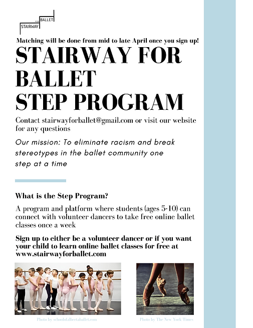 Stairway For Ballet Step Program Poster.