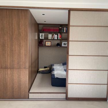 Japonské posuvné dveře, masiv dub, len p