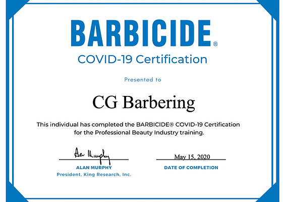 BARBICADE COVID-19 Certification