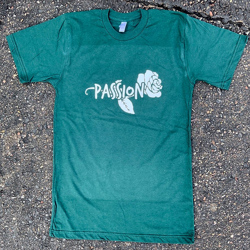 Passion Rose Tee Forest Green