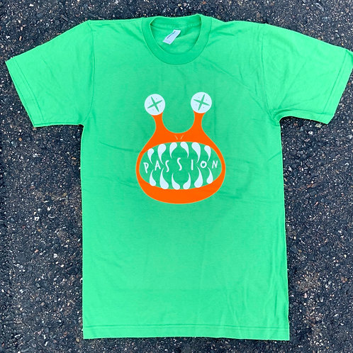 Passion Cross Eyed Tee Green