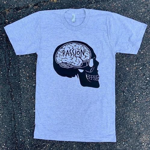 Passion Skull Tee Grey