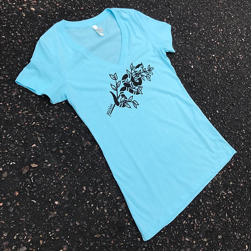 Passion Serpent Women's V Neck Tee